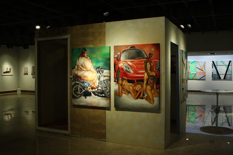 Fat chick and The plastics side by side on installation